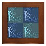 Dance Scrolls Framed Tile