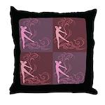 Dance Scrolls Throw Pillow