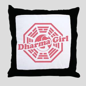 LOST Dharma Girl Throw Pillow