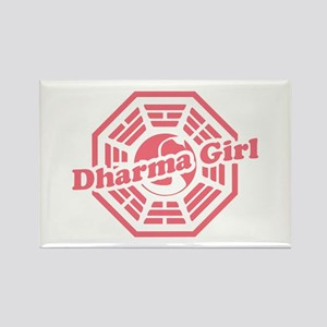 LOST Dharma Girl Rectangle Magnet