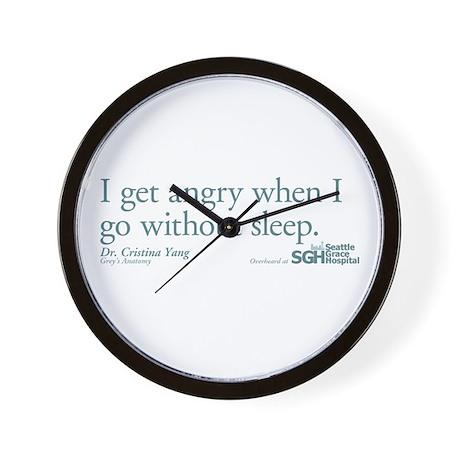 I get tired... - Grey's Anatomy Wall Clock