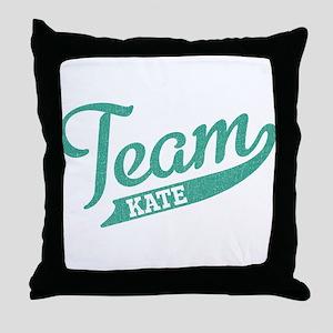 Team Kate Throw Pillow