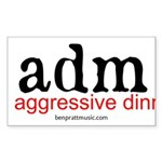 aggressive dinner music Sticker