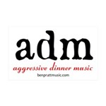 aggressive dinner music Wall Decal