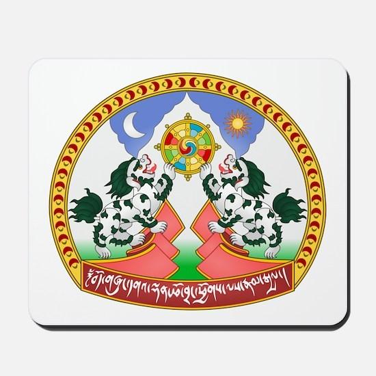 Tibet Tibetan Emblem Mousepad
