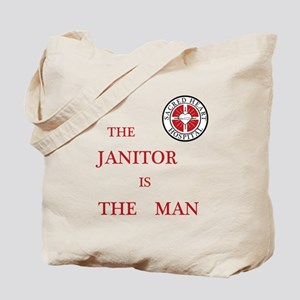 The Janitor is the Man Tote Bag