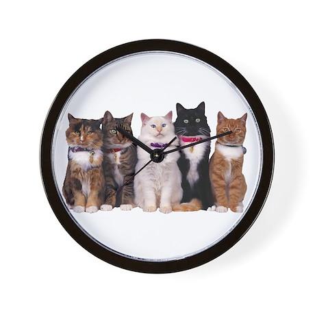 5 Cats Wall Clock