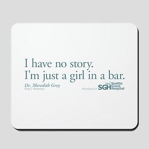 Girl in a Bar -Grey's Anatomy Mousepad