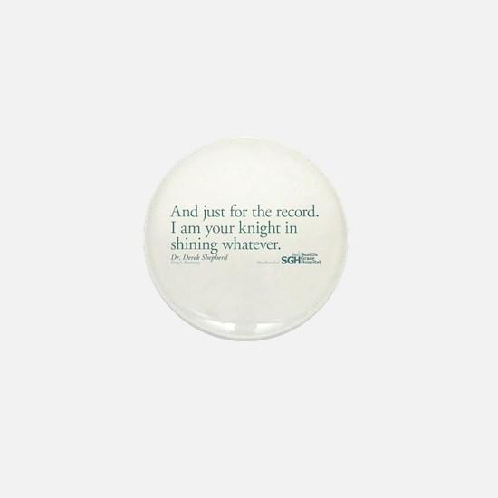 For the Record... - Grey's Anatomy Mini Button