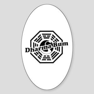 LOST Dharma Bum Oval Sticker