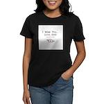 Knee-Mail Women's Dark T-Shirt