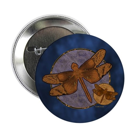 Copper Dragonfly Button