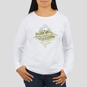 Paintballer Skull Women's Long Sleeve T-Shirt