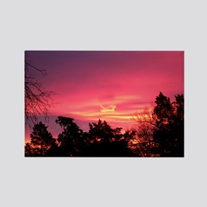Pink Sunrise Rectangle Magnet
