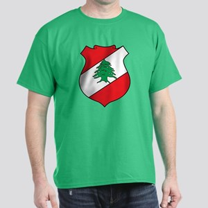 Lebanon Coat of Arms (Front) Dark T-Shirt