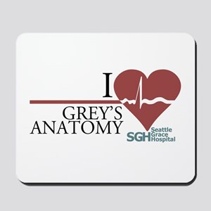 I Heart Grey's Anatomy Mousepad