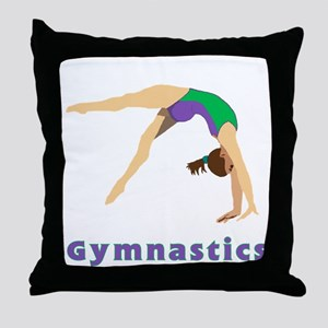Colorful Gymnast Throw Pillow