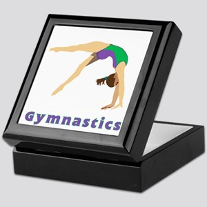Colorful Gymnast Keepsake Box