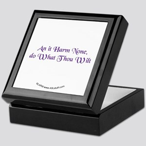 Wiccan Rede Keepsake Box