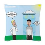 Weird Weather Woven Throw Pillow
