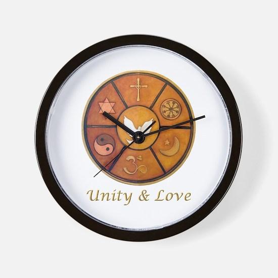 Interfaith Unity & Love - Wall Clock