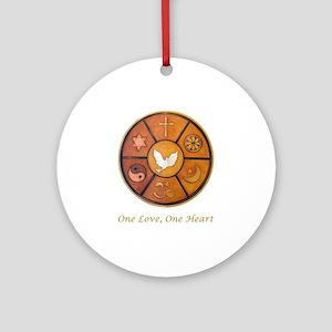 Interfaith One Love, One Heart - Ornament (Round)