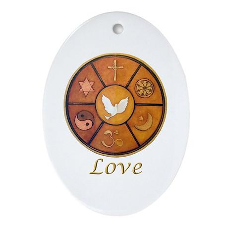 """Interfaith """"Love"""" - Oval Ornament"""