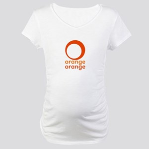 orange orange Maternity T-Shirt