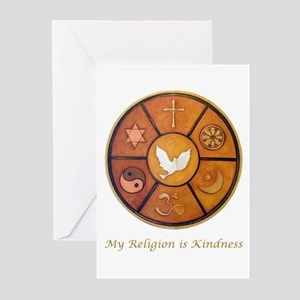 "Interfaith ""My Religion is Kindness"" Greeting Card"