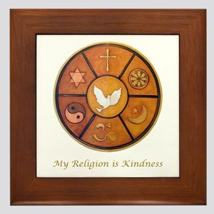 "Interfaith ""My Religion is Kindness"" Framed Tile"