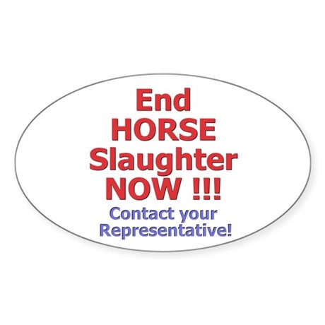 Stop Horse Slaughter Oval Sticker