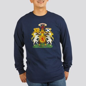 Scotland Coat of Arms (Front) Long Sleeve Dark T-S