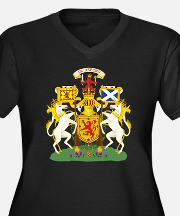 Scotland Coat of Arms (Front) Women's Plus Size V-