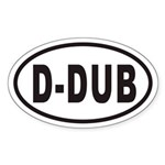 D-DUB Euro Oval Sticker