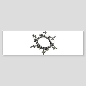 Circle of Crosses Bumper Sticker