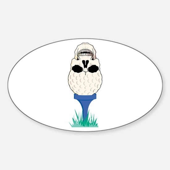 Skull Golf Ball Oval Decal