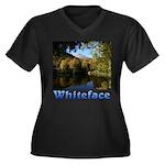 Whiteface pond Women's Plus Size V-Neck Dark T-Shi