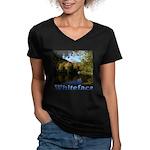 Whiteface pond Women's V-Neck Dark T-Shirt