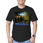 Whiteface pond Men's Fitted T-Shirt (dark)