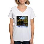 Whiteface pond Women's V-Neck T-Shirt