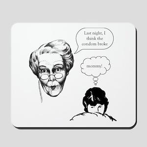 Grandma Condom Mousepad
