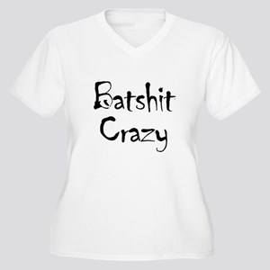 Batshit Women's Plus Size V-Neck T-Shirt