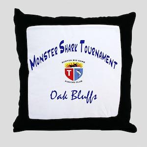 Monster Shark Throw Pillow