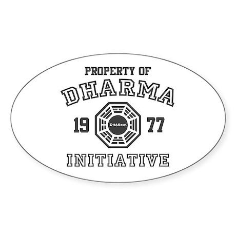 Property of Dharma Initiative Oval Sticker