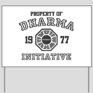 Property of Dharma Initiative Yard Sign
