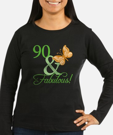 90 & Fabulous Birthday T-Shirt