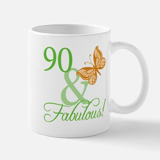 90 & Fabulous Birthday Mug