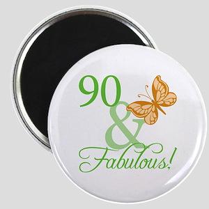 90 & Fabulous Birthday Magnet