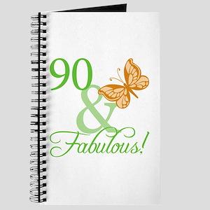 90 & Fabulous Birthday Journal