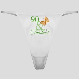 90 & Fabulous Birthday Classic Thong